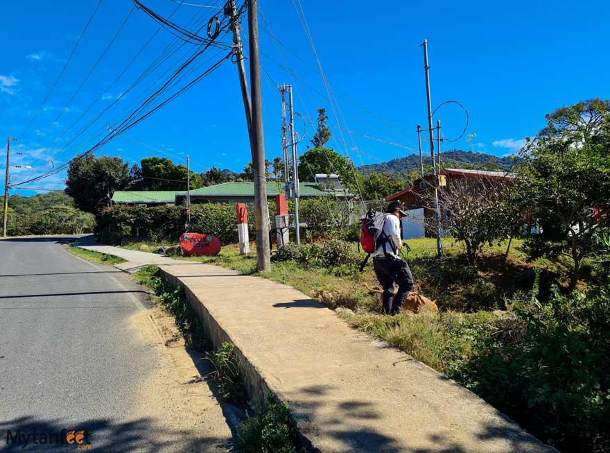 Entrance to monteverde ficus la razi path