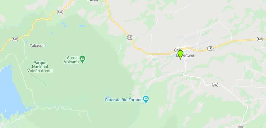 La Fortuna google maps