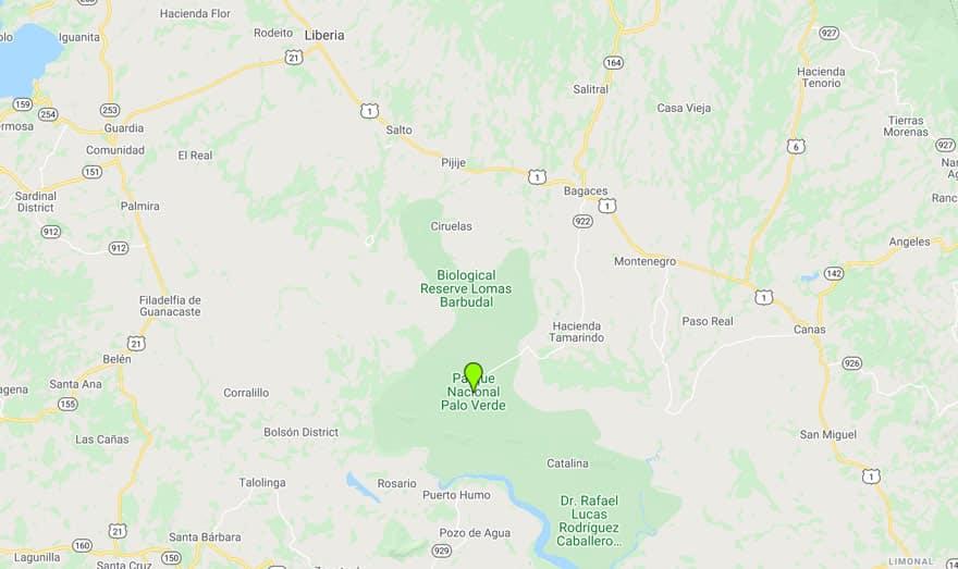 palo-verde-national-park-google map