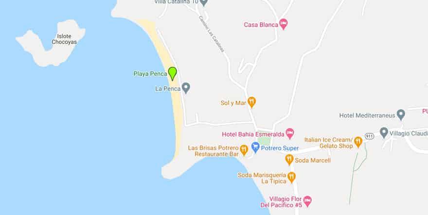 playa-penca-beach-map