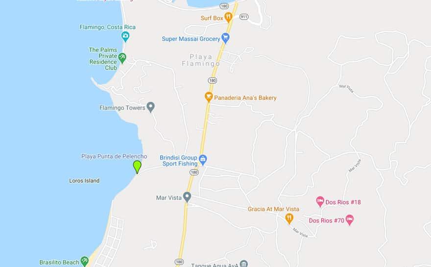 playa punta de pelencho google map