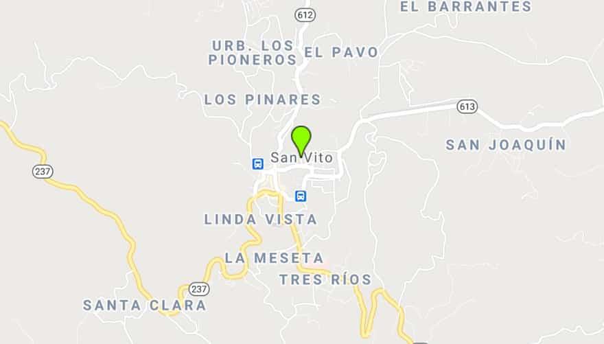 San Vito map