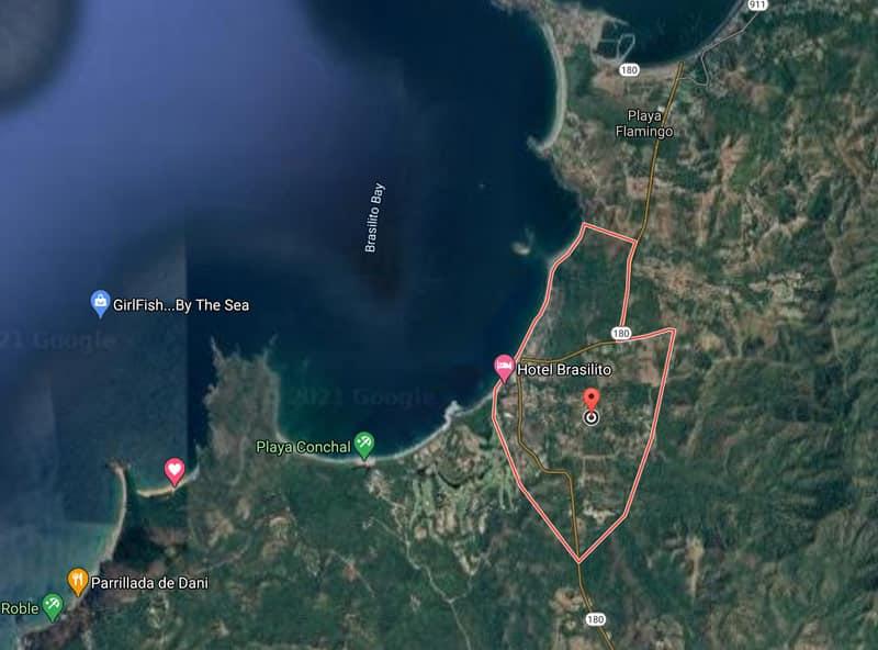 playa brasilito map