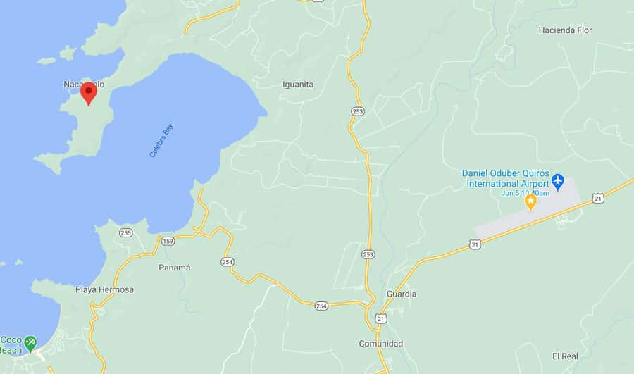 Papagayo Peninsula map