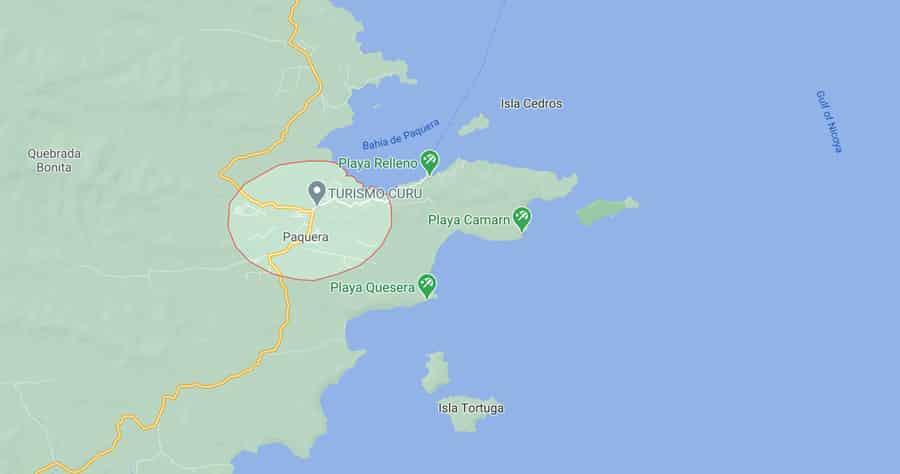 Paquera map