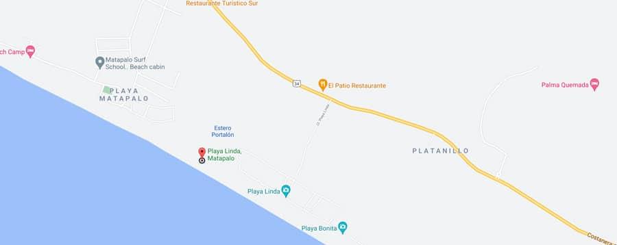 Playa linda map