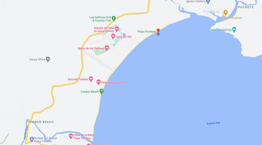 playa pochote map