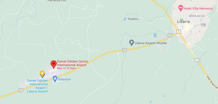 Liberia Airport map