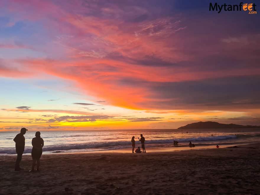 tamarindo sunset - costa rica covid