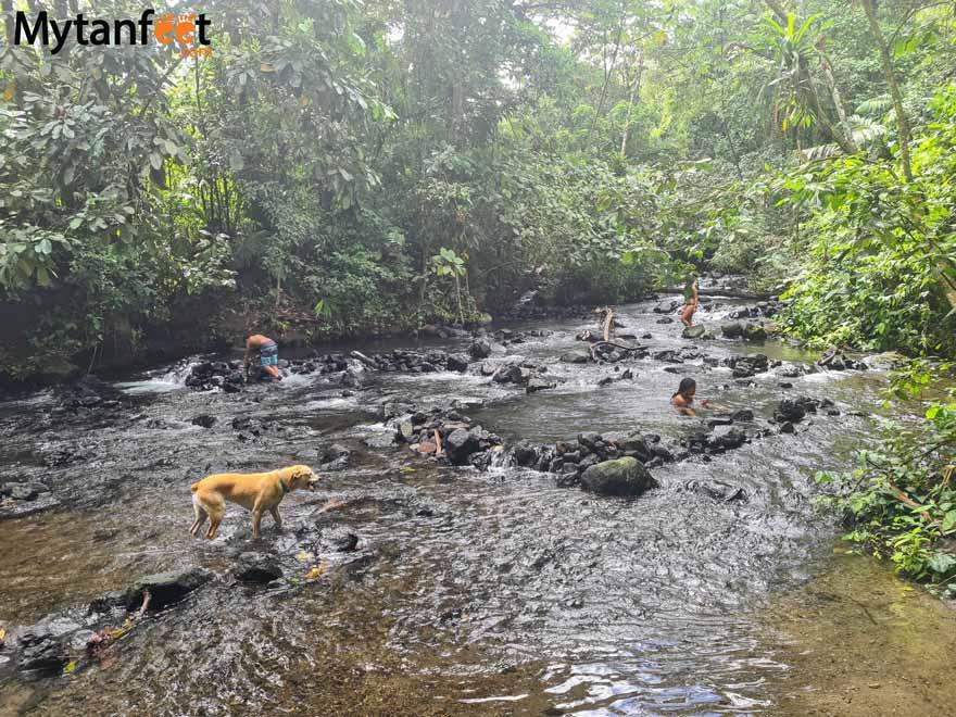 La Fortuna free swimming holes - El Choyin free hot spring
