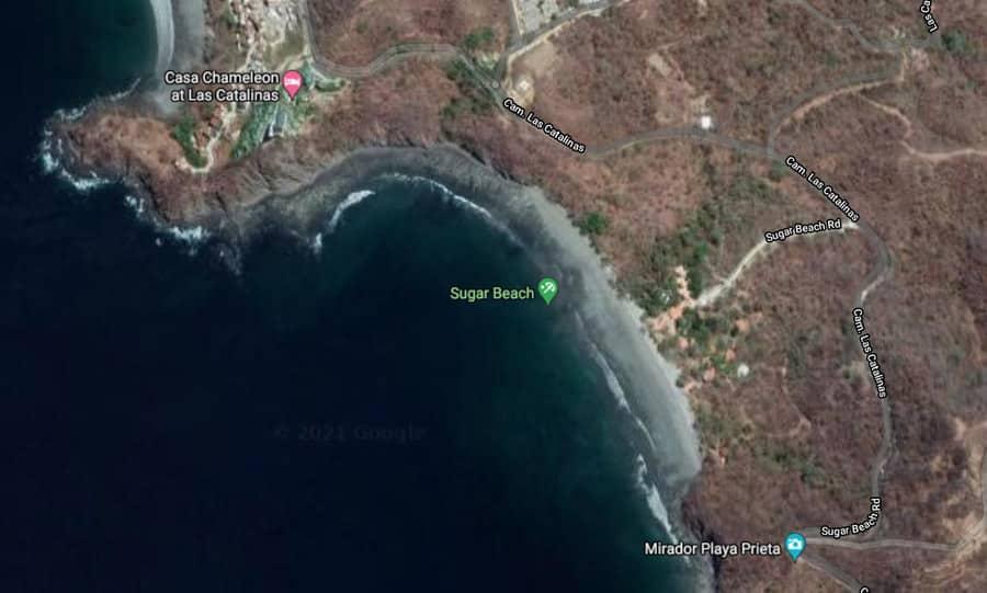 sugar beach Costa Rica map
