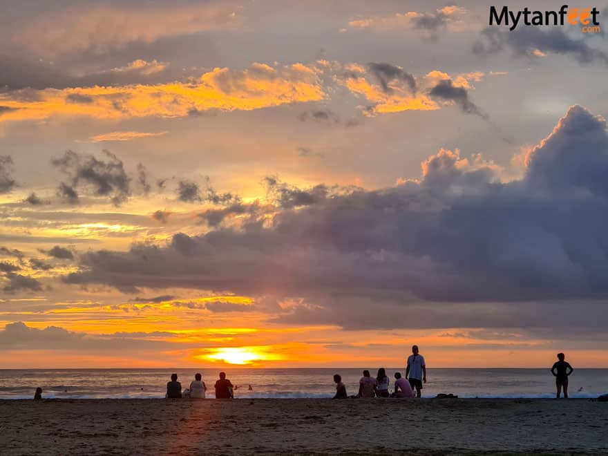 Tamarindo sunset happy hour